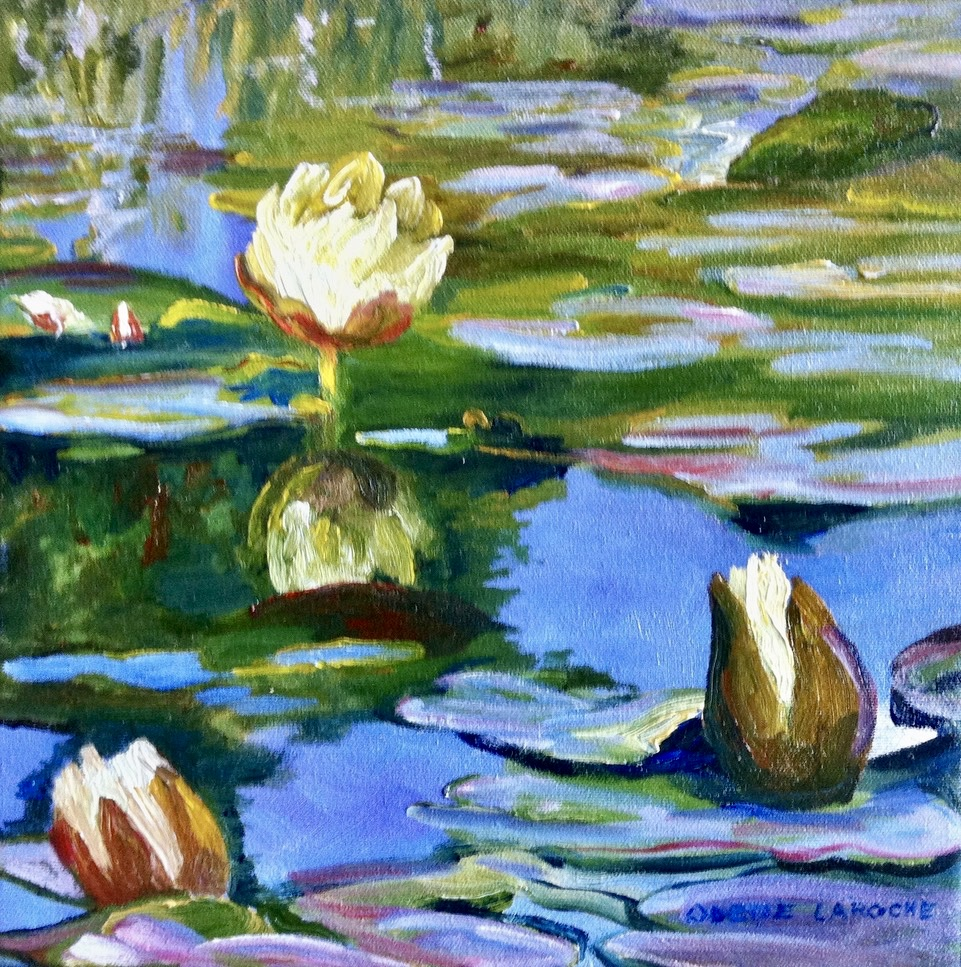 Water Lilies in White